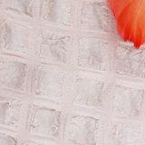 Romântico Light Pink Crinkle Tecido para Moda Mulheres Vestido