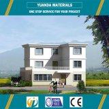 Casa prefabricada prefabricada del chalet de la estructura de acero de la luz de los hogares