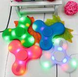고속 LED 빛 싱숭생숭함 방적공 Bluetooth 스피커 EDC 손 방적공 USB 비용을 부과 핑거 장난감