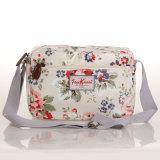 (99032-10) Da lona impermeável do PVC do estilo de Inglaterra saco de ombro floral