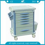 Carros móveis do tratamento da medicina do hospital material do ABS AG-Mt003b3