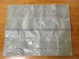 Encerado impermeable resistente de la cubierta del carro del encerado gris del PVC