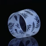 Verre à gels en verre givré avec impression décorative