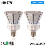 Lámpara de la tapa del poste de la UL Dlc 9600lm 80watt LED de ETL con 5 años de garantía