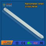 Diodo emissor de luz T8 da luz da câmara de ar do nanômetro 2800-6500k 9W para a loja