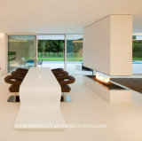 Corianの固体表面の模倣ホーム家具の長いダイニングテーブル