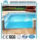 Os painéis acrílicos transparentes para a piscina fazem de China