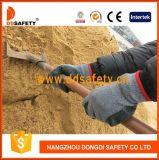 Gants fonctionnants tricotés Dkl336 de sûreté enduite de gant de latex de pli