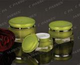 化粧品の包装のための新しい到着の緑のアクリルのクリーム色の瓶(PPC-ACJ-107)