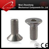 炭素鋼の等級4.8 8.8 10.9亜鉛によってめっきされるM8平らなヘッドソケットヘッド帽子ねじDIN7991