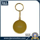 Metallo lucido Keychain dell'oro con l'inserto di stampa