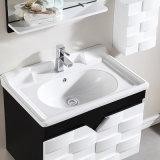 Module solide debout libre en bois de bassin de vanité de salle de bains