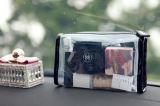 Bolso de encargo del maquillaje del PVC del claro de la manera con la cremallera
