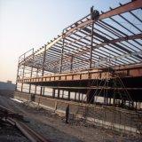 欄干の壁が付いている携帯用鉄骨構造の倉庫の構築