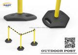 Barrera retractable plástica al aire libre de la correa del nuevo producto con la base pesada