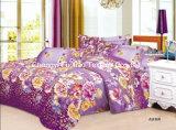 中国Suppilerのホーム織物クイーンサイズポリエステルプリント羽毛布団カバー多彩で安い寝具セット