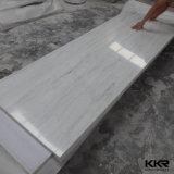 Superfície contínua acrílica de pedra artificial veando do teste padrão