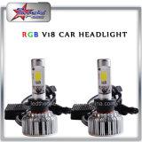 車のためのSamrtphone APPの制御変化カラーによる極度の涼しいRGB LEDのヘッドライトの球根