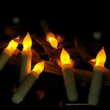 Suporte de vela religioso de cintilação da vara da ironia do amarelo do diodo emissor de luz