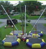 Binnen Mobiele Bungee Trampoline voor Verkoop, Ronde Trampoline Bungee