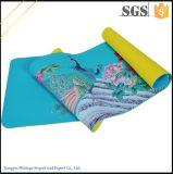 Coutume amicale de couvre-tapis de yoga d'Eco de couvre-tapis fait sur commande Chlorure-Libre de yoga estampée