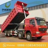Tipper usado boas condições 371HP 8X4 do caminhão de descarga de HOWO com melhor preço