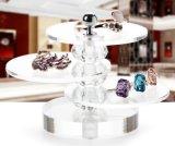 Étalage tournant de couche d'étalage acrylique multi de bijou