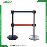 Poste de barrière en acier inoxydable avec corde télescopique pour aéroport