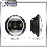 50W Super Bright 7 pouces phare pour Jeep Wrangler phare, LED ronde phare avec Angel Eye Halo Ring