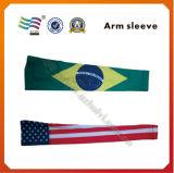 Tessuto su ordinazione dello Spandex che dimagrisce il manicotto del braccio con il marchio stampato