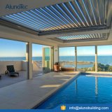 Impermeable de protección solar motorizado lumbrera horizontal pérgola al aire libre