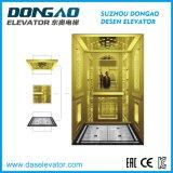 Piccolo elevatore del passeggero della stanza della macchina con la decorazione dorata acquaforte