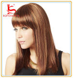 La peluca del pelo de la Virgen del ser humano del 100%/del pelo humano/ata por completo la peluca
