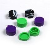 La última cera repartida redonda colorida antiadherente Vontainer los 4.2cm los x 2.2cm Cc-009 del LENGUADO de los tarros del silicio de Bho