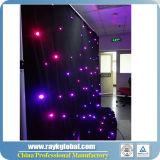 Cortina ligera de la cortina de gota de la estrella de la cortina LED de la estrella del LED LED DJ, luz del disco para la decoración de la barra