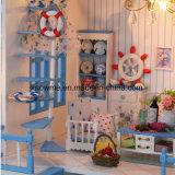 Дом куклы малышей миниатюрная деревянная DIY
