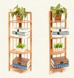 Crémaillères faisantes le coin en bambou, étagère faisante le coin en bambou, stand faisant le coin en bambou