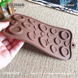 Molde do chocolate do silicone do alimento da forma da tecla do Manufactory de Qinuo para o Natal