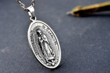 Ювелирные изделия ожерелья нержавеющей стали экрана Мария людей способа привесные Titanium