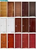 Porta aprontada branca personalizada do V-Sulco do painel da madeira para projetos