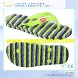 Poussoirs supérieurs de Bath de santals de plage de bascule électronique d'hommes et de femmes de PVC d'EVA de semelle intérieure colorée unisexe d'onde