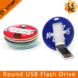 Disco de destello redondo del USB de la impresión colorida de encargo (YT-3108)