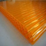policarbonato 10m m hueco resistente ULTRAVIOLETA del panal 50um para el invernadero