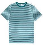 Le T-shirt barré des hommes avec quelques couleurs