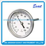Caja de acero inoxidable de alta calidad Termómetro bimetálico para Industrial