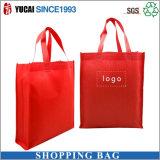 赤女性のための非編まれた袋のショッピング・バッグ