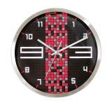 Métal horloge de mur de quartz de modèle de mode de 12 pouces
