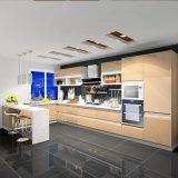 De moderne Hoge Glanzende Keukenkast van de Lak