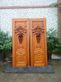 Puerta principal de lujo de madera de la puerta de la teca sólida de madera de lujo del diseño (XS1-025)