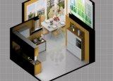 贅沢な台所は牽引のパックの調理するか、または料理の販売のための高いメラミン食器棚をカスタマイズした